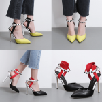 รองเท้าส้นสูง ไซต์ 35-40 สีแดง/เหลือง