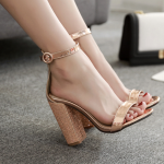 รองเท้าส้นสูง สีทอง ไซต์ 35-40