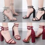 รองเท้าส้นสูง ไซต์ 35-40 สีดำ/แดง/เทา