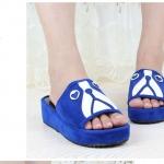 รองเท้าหน้าน้องหมาน้องแมวสีนำเงิน