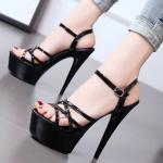 รองเท้าส้นสูงแบบสวยสีดำ ไซต์ 34-39