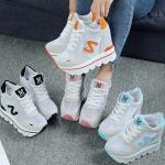 รองเท้าผ้าใบเสริมส้น ไซต์ 35-39 สีฟ้า,ส้ม,ชมพู,ดำ