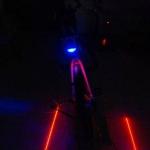 LED+Laser ไฟท้ายจักรยาน7แบบ+ไฟสร้างเลนจักรยาน laser 2 in 1