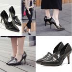 รองเท้าส้นสูง ไซต์ 35-39 สีดำ/เทา