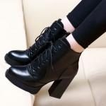 รองเท้าบูทส้นสูงหนังสวยๆ ไซต์ 34-39