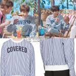 เสื้อแขนยาว JUUN.J White 'covered' Pullover Sty.JUNGKOOK -ระบุไซต์-