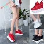 รองเท้าผ้าใบเสริมส้น ไซต์ 34-39 สีขาว,ดำ,แดง
