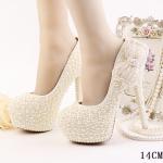 รองเท้าเจ้าสาว ไซต์ 34-39 ส้นสูง 10,12,14 ซม.