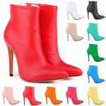 รองเท้าบูทส้นสูงปลายแหลม ไซต์ 35-42 สีแดง/ดำ/ขาว/นู๊ด/ฟ้า/ฟ้าอมเขียว/เขียว/เหลือง/ส้ม/ชมพูอ่อน/ชมพูเข้ม