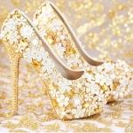 รองเท้าเจ้าสาว ไซต์ 34-39 ส้นสูง 8,14 ซม.