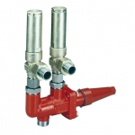 DSV, double stop valves, for safety valves