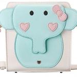 กระเป๋า Share Young สีขาวฟ้ารูปช้าง (พรีออเดอร์)