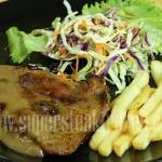 สเต็กหมูพริกไทยดำ กิโลกรัมละ