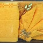 ชุดผ้าขนหนูสำหรับถวายพระ ผ้าฝ้าย100% เกรดA มีทั้งผ้าขนหนู สีเหลือง / สีกรัก ชุดละ 220 บาท ส่ง 50ชุด