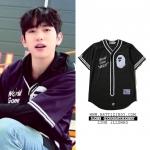 เสื้อเชิ้ต BASEBALL A A BATHING APE® BLACK Sty.Jinyoung -ระบุไซต์-