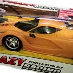 รถแข่งบังคับ Supercar โมเดลสุดเท่ห์ Laferrari สีเหลืองส้ม ไฟหน้าสวยงาม มีถ่านชาร์จไฟได้แถมให้