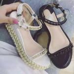 รองเท้าน่ารัก ไซต์ 35-39 สีครีม สีดำ