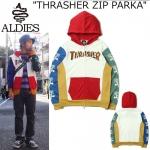 Jacket Hoodie THRASHER Full-Zip PARKA-ระบุไซต์-
