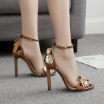 รองเท้าส้นสูงประดับดอกไม้สุดหรู ไซต์ 35-40