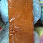 ผ้าขนหนู Cotton100% ผ้าเช็ดหน้า สีเหลือง/กรัก 24*48 นิ้ว โหลละ 940 บาท ส่ง 10โหล