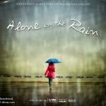 A lone in the rain