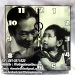 043-อัดขยายรูปและเข้ากรอบลอย 10x10 นิ้ว ใส่นาฬิกา