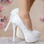 รองเท้าเจ้าสาว ไซต์ 34-40 ส้นสูง 14 ซม.