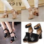 รองเท้าส้นสูง ไซต์ 35-39 สีดำ/ครีม