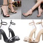 รองเท้าส้นสูงสีดำ/ทอง ไซต์ 35-40