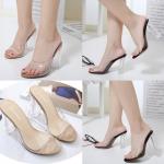 รองเท้าส้นสูง ไซต์ 35-40 สีพื้นดำ/ครีม