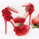 รองเท้าส้นสูงสีแดง ไซต์ 35-39