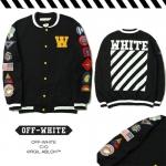 Jacket OFF-WHITE BLACK Souvenir Baseball -ระบุไซต์-