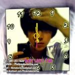 054-อัดขยายรูปและเข้ากรอบลอย 8x8 นิ้ว ใส่นาฬิกา