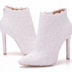 รองเท้าบูทเจ้าสาวสีขาว ไซต์ 34-41