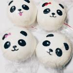 ** พร้อมส่ง ** Panda Bun set 4 ชิ้น รุ่น soft ขนาด 9 ซม. สกุชชี่แพนด้าบันจัมโบ้