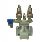 PM, pressure and temperature regulators, pilot operated main valve