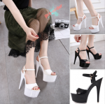 รองเท้าส้นสูง ไซต์ 34-39 สีดำ/ขาว