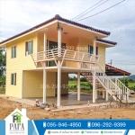 บ้าน 2 ชั้น ขนาด 6*8.2 เมตร (2ห้องนอน 2ห้องน้ำ 1ห้องครัว 1ห้องโถงใหญ่)