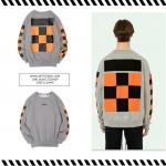 เสื้อแขนยาว Off-White c/o Virgil Abloh Checkers Grey/Orange -ระบุไซต์-