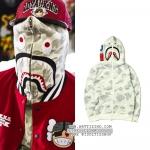 (จำนวนจำกัด) Jacket Hoodie BAPE® CITY CAMO SHARK FULL ZIP (White) -ระบุไซต์-