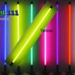 ไฟงานวัด LED สีเหลือง(ไฟนิ่งไม่กระพริบ), หลอด T8 สี