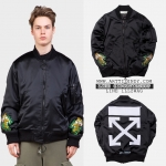 (จำนวนจำกัด) Jacket Off-White c/o Virgil Abloh Black Souvenir Bomber 17ss -ระบุไซต์-