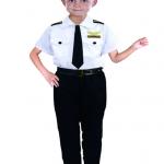 ชุดตำรวจ เสื้อ+กางเกง+เนคไท+เข็มขัด+หมวก แพ็ค 3 ชุด ไซส์ M-M-L