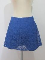 (ไซส์ L สีน้ำเงิน) กระโปรงกางเกง กางเกงกระโปรง ผ้าลูกไม้ กางเกงด้านในเป็นผ้าลูกไม้สีน้ำเิงิน ซิปหลัง (ใหม่ พร้อมส่ง) ร้าน ladyshop4u