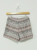 กางเกงแฟชั่น กางเกงขาสั้น กางเกงเอวสูง พิมพ์ลายอียิปต์ ดูดี (ใหม่ พร้อมส่ง) ladyShop4U