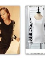(ขาว)เสื้อแฟชั่นเกาหลี เสื้อทำงาน เสื้อออกงาน เสื้อแฟชั่น แขนยาว ปักลายดอกไม้ที่แขนสวยมากๆ ดูดี (ใหม่ พร้อมส่ง) ร้าน LadyShop4U
