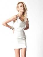 ชุดเดรสสั้นแฟชั่น ซีทรูด้านหลัง สีขาว ผ้าชีฟองมีซับใน ซิปข้าง (ใหม่ พร้อมส่ง) ร้าน Ladyshop4u