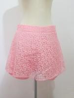 (ไซส์ L สีส้มโอรสอ่อน)กระโปรงกางเกง กางเกงกระโปรง ผ้าลูกไม้ สีส้มโอรส กางเกงด้านในเป็นผ้าลูกไม้สีส้มโอรส ซิปหลัง (ใหม่ พร้อมส่ง) ร้าน ladyshop4u