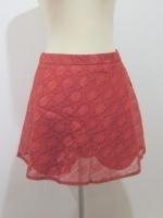 (สีอิฐ)กระโปรงกางเกง กางเกงกระโปรง ผ้าลูกไม้ ลายดอก กางเกงด้านในอิฐ ซิปหลัง (ใหม่ พร้อมส่ง) ร้าน ladyshop4u