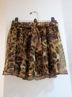 กระโปรง+กางเกง กระโปรงสั้น กระโปรงแฟชั่น กางเกงกระโปรง กระโปรงกางเกง กระโปรงทำงาน ลายเสือ น้ำตาลอ่อน กางเกงด้านในสีดำ สวย ดูดี (ใหม่ พร้อมส่ง) LadyShop4U